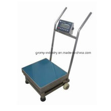 Electronic Digital Stainless Steel Platform Scale with Wheels and Handle
