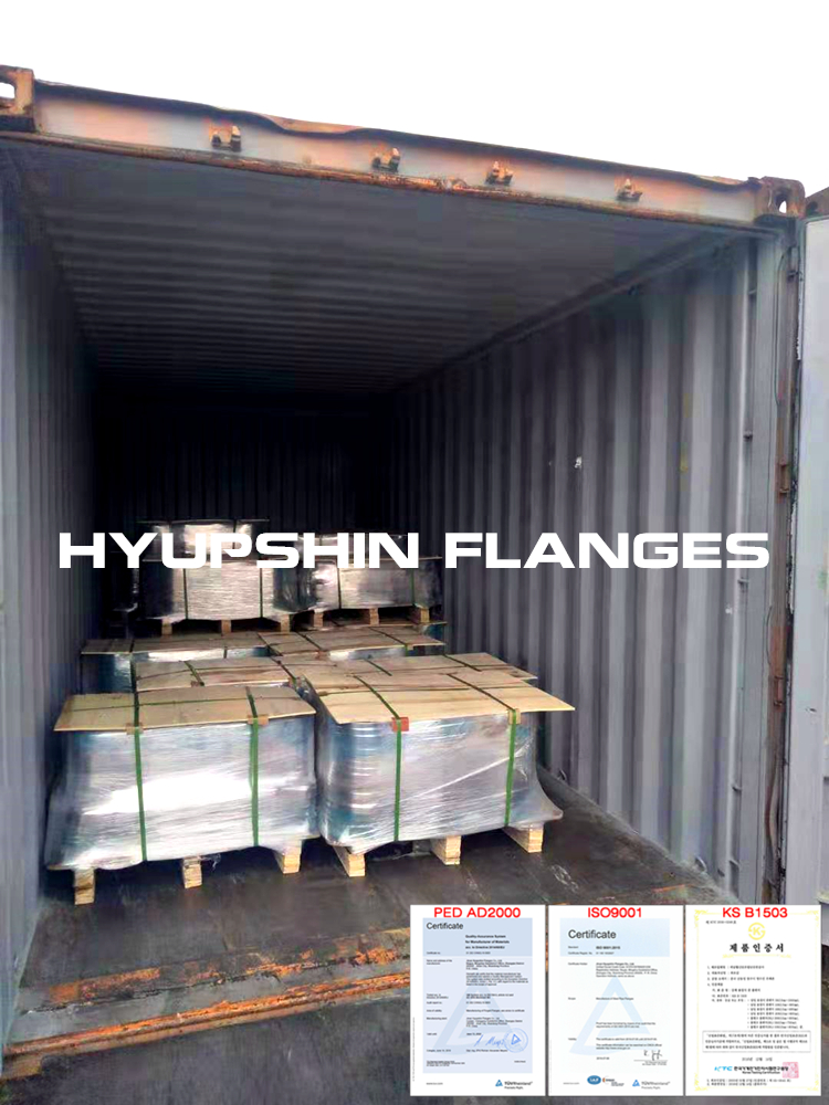 Hyupshin Flanges Shipment Shipping Delivery