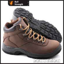 Dual Density PU Outsole Ankle Genuine Leather Safety Shoe (SN5316)