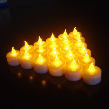 Party yellow light LED candle