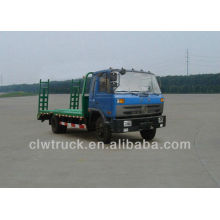 dongfeng 145 flat transport loading excavator