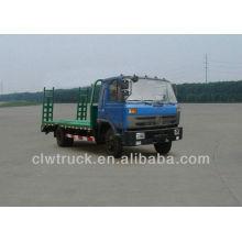dongfeng 145 flat transport loading excavator