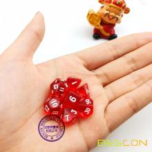 12MM Mini Size Polyhedral 7-Die Set D4-D20 for RPG Dungeons and Dragons Game Dice