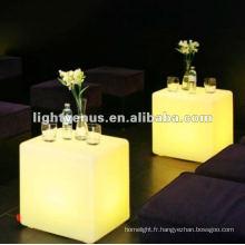 Chaise matérielle changeante de la couleur LED de salon de 40cm PE