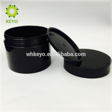 100g 150g 200g venda quente cosmético jar preto vazio creme de maquiagem jar duas camadas de plástico recipientes de plástico