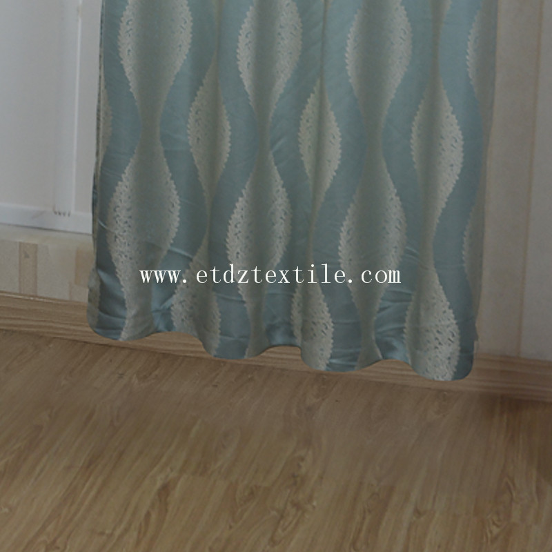HOT Deisgn HOT Pattern of Polyester Jacqurad Curtain Fabric GF028 Water Blue