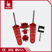 Universal Dos funciones de ABS de dos brazos de bola de seguridad de la válvula BD-F32, Brady bloqueo de cable tagout