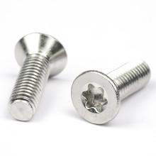 Stainless Steel 304 M2 M2.5 M3 M3.5 M4 Torx Flat Head Screw Hand Tighten Anti-theft Machine Screws
