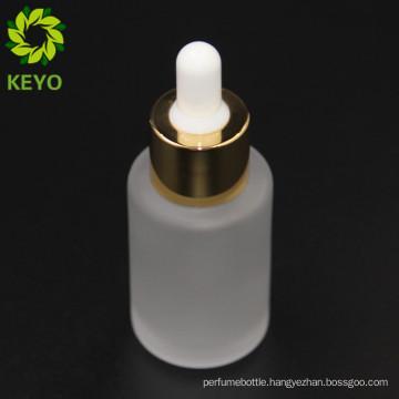30ml empty cosmetic serum clear matte glass dropper bottle