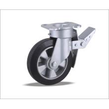 Тяжелый поворотный ролик с эластичным резиновым колесом