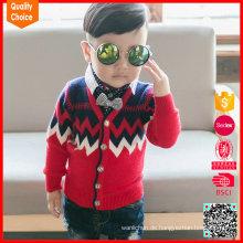 Neuer Entwurf netter Hand strickte kundengebundene Kinderwollpullover