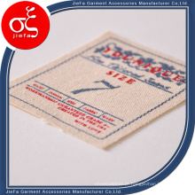 Etiqueta / etiqueta de tecido impresso com logotipo da marca em tela personalizada