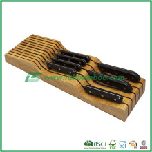 Magnetic Knife Block / Bamboo Block With Stainless Steel, High Quality Bamboo Knife Block Universal Knife Holder,