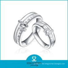 Hochwertiger silberner Schmucksache-Verlobungs-Hochzeits-Ring (SH-R0216)