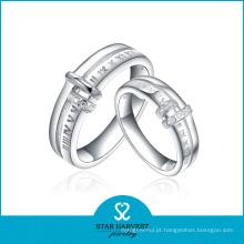 Anel de casamento de alta qualidade do acoplamento da jóia de prata (SH-R0216)
