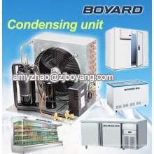Congelador de la isla de cristal doble R404A con boyard unidad condensadora