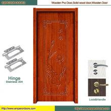 Porte en bois coulissante de modèle en bois de porte pivotante de porte en bois