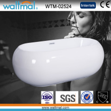 Oval Good Looking Freestanding Soaking Bathtub Bathroom (WTM-02524)