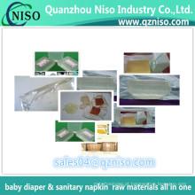 Colagem quente do derretimento, adesivo quente do derretimento para a fralda do bebê, colagem do tecido do bebê