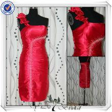 PP2567 echte Probe wulstige kurze Brautjungfer Kleid 2013
