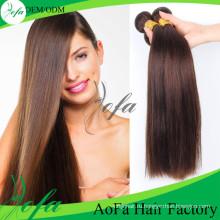 Новый Продукт Волос Коричневый Цвет Человеческих Естественная Монгольский Реми Волос