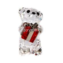 Кристалл прекрасный Медведь для подарков в китайском стиле