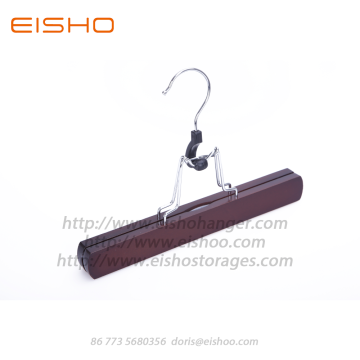 EISHO Dark Walnut Wood Clamping Hosenbügel