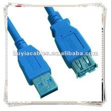 Premium-Qualität Blau 6Ft USB-Kabel 3.0 A M / F-Verlängerungskabel