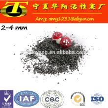 Bulk pellet activated carbon for air purification