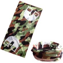 Günstige Mikrofaser Grün Camouflage Camo Bedruckter Polyester Nahtloser Schlauchschal