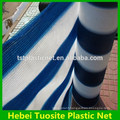 Anti UV Color Strip Balcony Shade Net , Outdoor Plastic Fence Netting