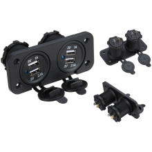 Waterproof 5V 1A 2.1A 4 Ports USB Charger Double Socket for Car Marine