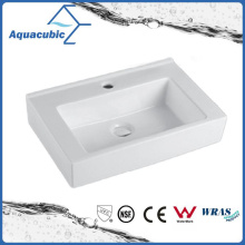 Square Bathroom Ceramic Cabinet Basin Hand Washing Sink (ACB4548)