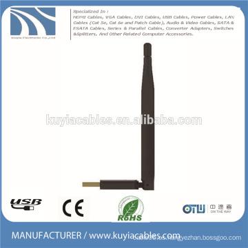 USB2.0 adaptador inalámbrico dongle 150M wifi W7 / 8 antena DBI6 para ordenador portátil macbook ordenador