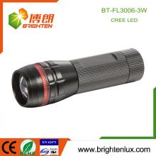 Fabrik Großhandel Aluminium Material Zoom Dimmer Super Bright Cree XPE 3 Watt LED Taschenlampe