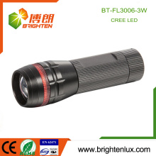 Factory Wholesale Aluminum Material Zoom Dimmer Super Bright Cree XPE 3 watt led Flashlight Torch