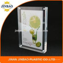 Jinbao usine Clair Dépliant Ad Holder Cadre Photo 5X7 Acrylique Signe Holder