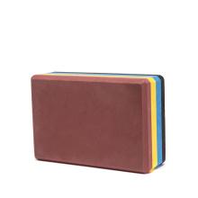 eco friendly  pilates meditation rainbow solid multi color layer  workout non-slip custom printed yoga block