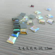 Atacado Cristal Quadrado Ab Não-Hotfix Strass