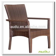 Audu Cheap Chair, Simples Brown Rattan Dining Chair