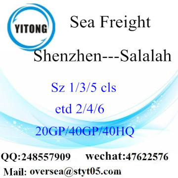 Shenzhen Port Sea Freight Shipping à Salalah