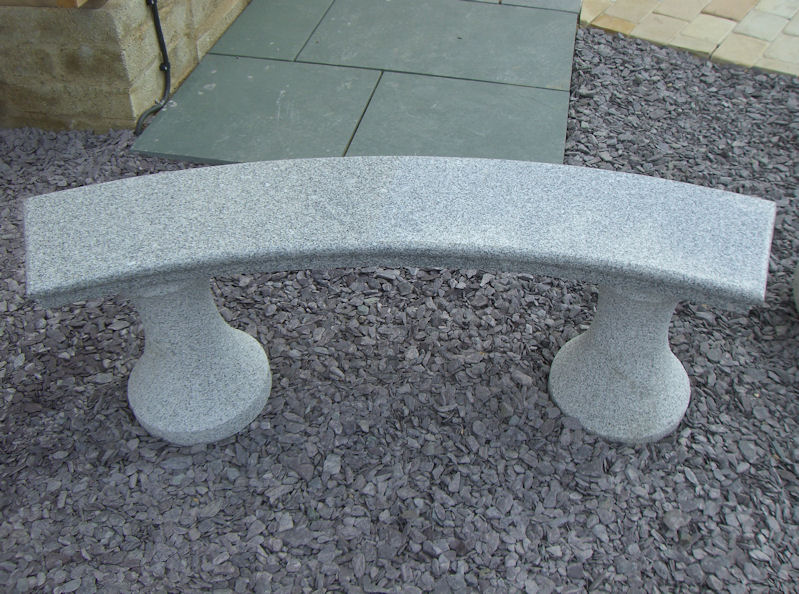 Outdoor Stone Carved Bench