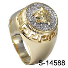 Anillo de plata de ley 925 de Hip Hop Jewelry para hombre