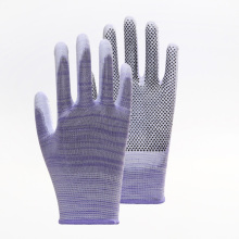 Special Design Anti-slip Stripe PU Work Gloves