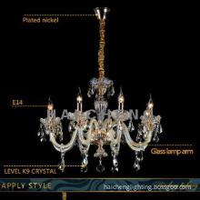 Hotel modern k9 crystal chandelier pendant light