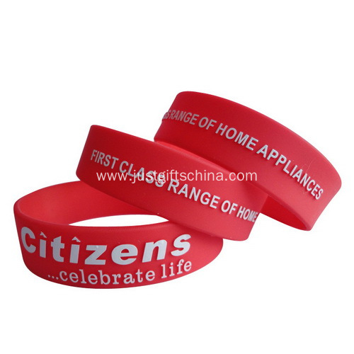 1 Inch Embossed Imprint Wristbands - 180mmx25.4mmx2mm