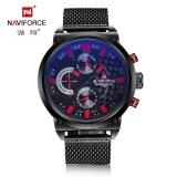 Trendy design chronograph Naviforce brand Quartz watch for men