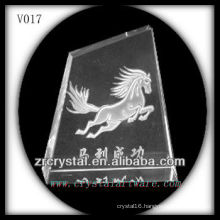 K9 Crystal Block with Sandblasting Image