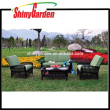 Home Depot New Design Style High Quality 4PCS Rattan Wicker Sofa Set Furniture