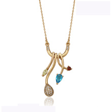 41939 atacado xuping elegante colar de ouro 18k cor de diamante moda belo colar